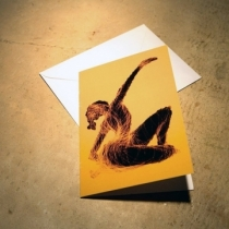 Black Dancer individual greetings card - Click here to view and order this product