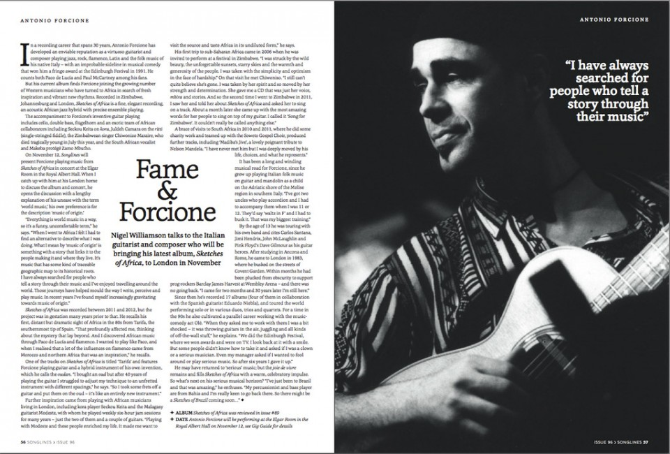 Fame & Forcione - Songlines 96 review